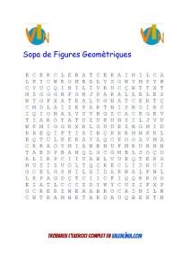 Sopa de Figures Geomètriques