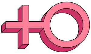 venus-female-symbol-pseudo-3d-pink